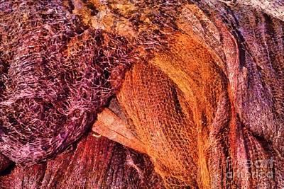 Seaside Painting - Fishing Nets by George Atsametakis