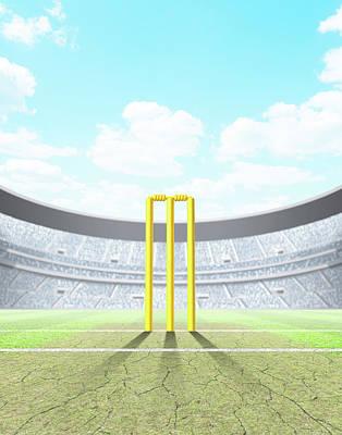 Stadium Digital Art - Floodlit Stadium Day by Allan Swart