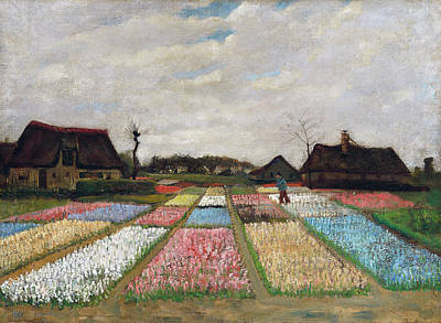 Painting - Flower Beds In Holland by Vincent van Gogh