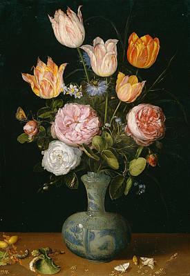 Flemish Painting - Flower Vase by Jan Brueghel the Elder