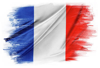 Photograph - French Flag by Les Cunliffe