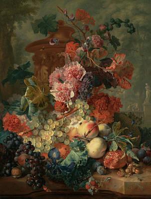 Painting - Fruit Piece by Jan van Huysum