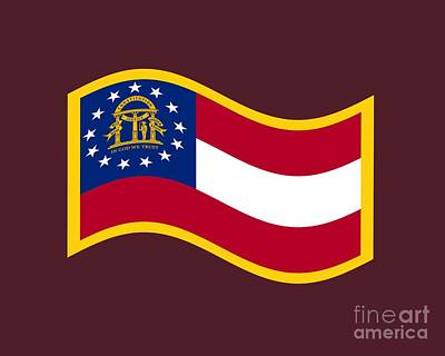 Lucille Ball - Georgia Flag by Frederick Holiday