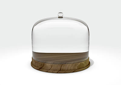 Safeguard Digital Art - Glass Dome Display Case by Allan Swart