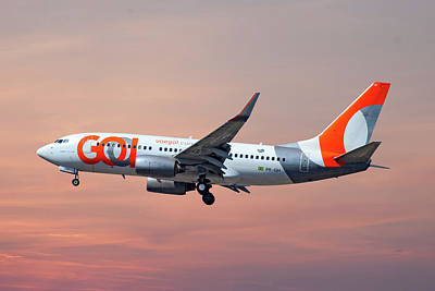 Photograph - Gol Transportes Aereos Boeing 737-76n by Smart Aviation