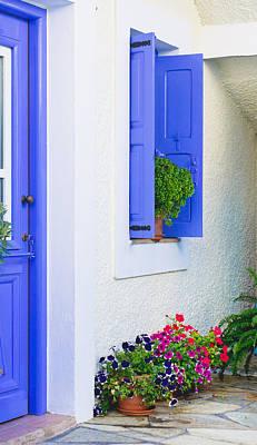 Blue Door Greece Photograph - Greek House by Tom Gowanlock