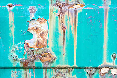 Messy Photograph - Green Metal by Tom Gowanlock