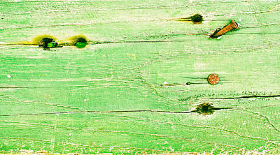 Messy Photograph - Green Wood by Tom Gowanlock