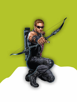 Hawkeye Mixed Media - Hawkeye Collection by Marvin Blaine