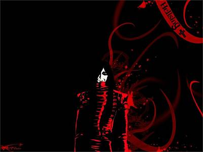 Curve Digital Art - Hellsing by Super Lovely