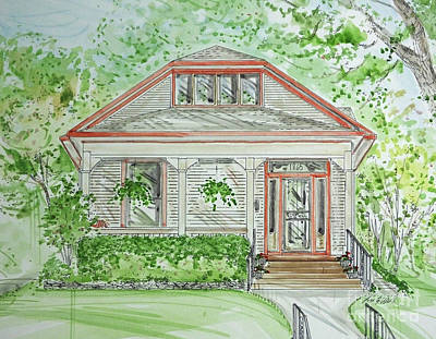 Drawing - House Rendering Sample  by Lizi Beard-Ward