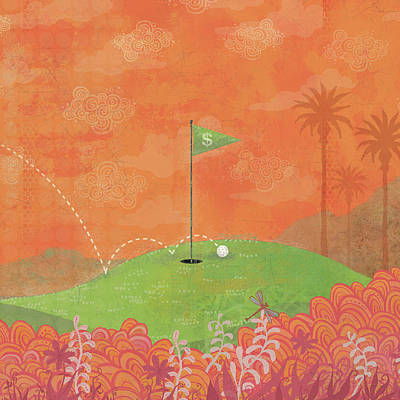 Golf Digital Art - 8 Iron by Dennis Wunsch