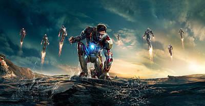 Superstar Digital Art - Iron Man 3 by Unknown