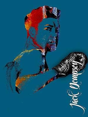 Boxer Mixed Media - Jack Dempsey Collection by Marvin Blaine