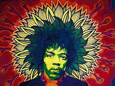 Digital Art - Jimi Hendrix by Jimi Hendrix