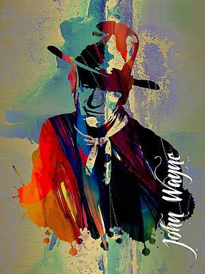 John Wayne Collection Art Print