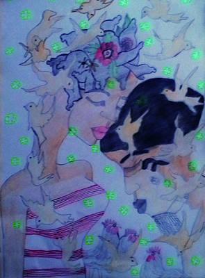 Painting - Kintu And Nambi The Folktale by Gloria Ssali