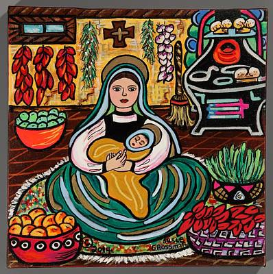 Iron Cross Painting - Kitchen Madonna by Susie Grossman