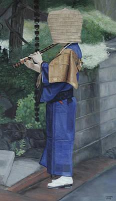 Painting - Komuso by Masami Iida