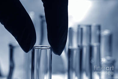Photograph - Laboratory Test Tube In Science Research Lab by Olivier Le Queinec