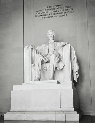 Photograph - Lincoln Memorial In Washington Dc by Brandon Bourdages