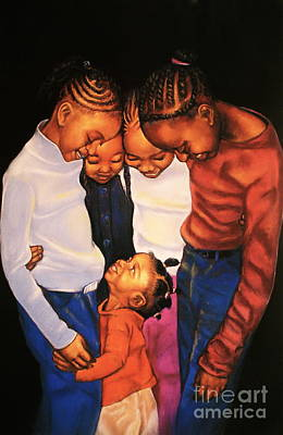 Artist Curtis James Pastel - Linda Brown You Are Not Alone by Curtis James