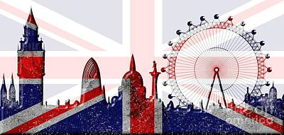 London Skyline Royalty-Free and Rights-Managed Images - London skyline by Michal Boubin