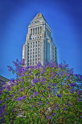 City Council Photograph - Los Angeles City Hall by Mountain Dreams