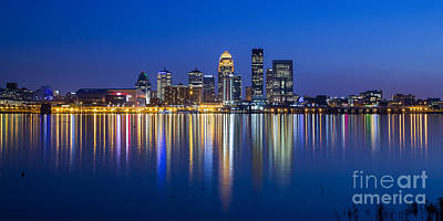 Kentucky Photograph - Louisville, Kentucky Skyline by Twenty Two North Photography