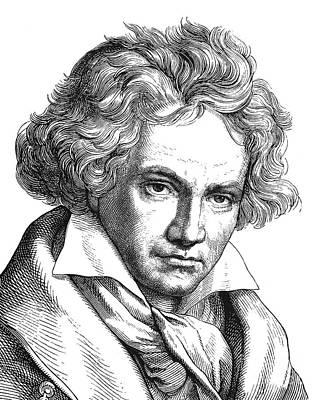 Ludwig Van Beethoven Art Print by Granger