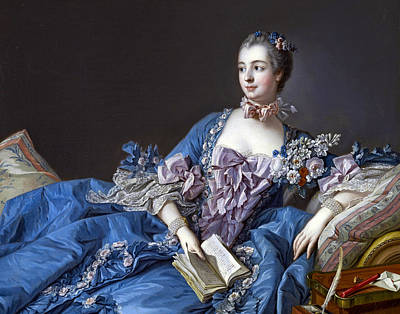 Photograph - Madame De Pompadour by Francois Boucher