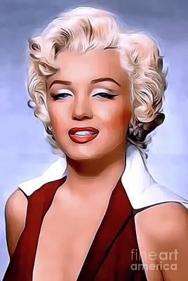 Actors Digital Art - Marilyn Monroe, Actress and Model by John Springfield
