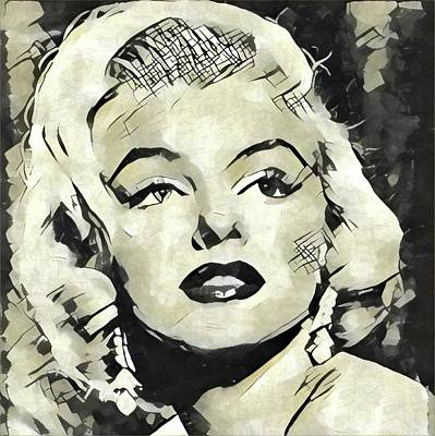 Actors Royalty-Free and Rights-Managed Images - Marilyn Monroe Vintage Hollywood Actress by Esoterica Art Agency