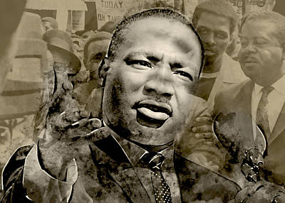Mixed Media - Martin Luther King by Marvin Blaine