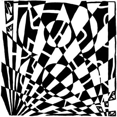 Frimer Drawing - 8 Maze by Yonatan Frimer Maze Artist
