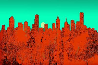 Digital Art - Melbourne  Australia Skyline by Marlene Watson