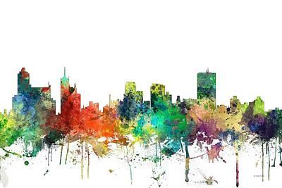 Memphis Tennessee Skyline Art Print