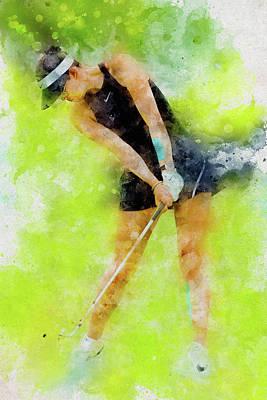 Michelle Wie Art Print