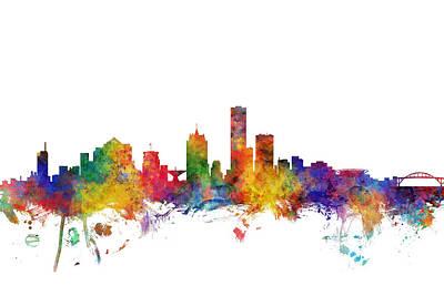 Digital Art - Milwaukee Wisconsin Skyline by Michael Tompsett