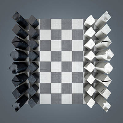 Modern Chess Set  Art Print by Allan Swart