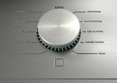 Screen Doors Digital Art - Modern Washing Machine Closeups by Allan Swart