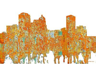 Digital Art - Montgomery Alabama Skyline by Marlene Watson