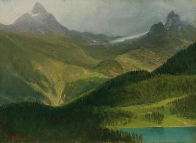 Painting - Mountain Landscape by Albert Bierstadt