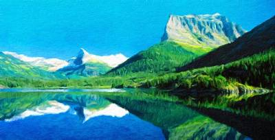 Water Painting - Nature Oil Painting Landscape by Margaret J Rocha