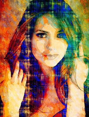 Mixed Media - Nina Dobrev by Svelby Art