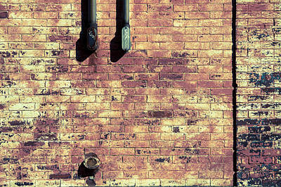 Photograph - Brick Wall And Old Iron #2 by Vintage Pix