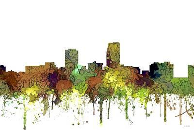Digital Art - Omaha Nebraska Skyline by Marlene Watson