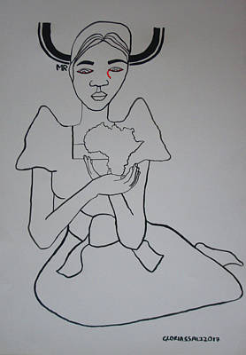 Painting - Our Lady Of Africa by Gloria Ssali