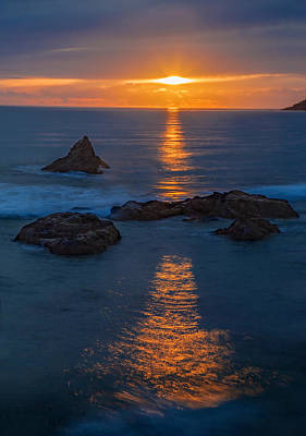 Rolling Stone Magazine Covers - Pacific Ocean Sunset by Michael Just
