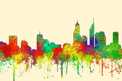 Digital Art - Perth  Australia Skyline  by Marlene Watson